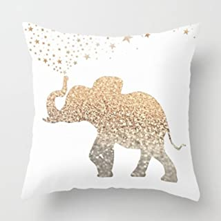 Aremazing Modern Gold Animal Polyester Throw Pillow Case Cushion Cover Home Decor 18 X 18 Inches (N- Elephant)