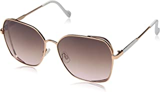 Jessica Simpson womens J5698 Square Vented Metal UV Protective Sunglasses   Wear All-Year   The Gift of Glam, 60 mm (pack ...