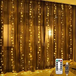 Interior Boda Luces de Cadena de Vacaciones de 8 Modos Perfectas para Jard/ín Dormitorio y Patio VIMOV Luces de Bolas Fiesta Luces de Jardin 60LED Guirnalda Luces Navidad con Pilas