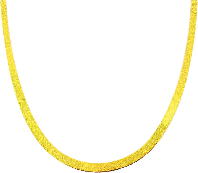US-Shopsmart Women's Ladies 10k Yellow Gold 3 mm(0.12 in) Herringbone Chain Herringbone Necklace 16-24 in