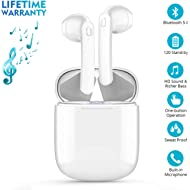 Bluetooth 5.0 Wireless Earbuds, Wireless Bluetooth Headphones with Deep Bass HiFi Stereo Sound,...
