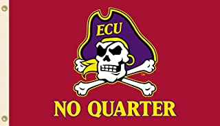 NCAA East Carolina Pirates 3-by-5 Foot Flag No Quarter with Grommets