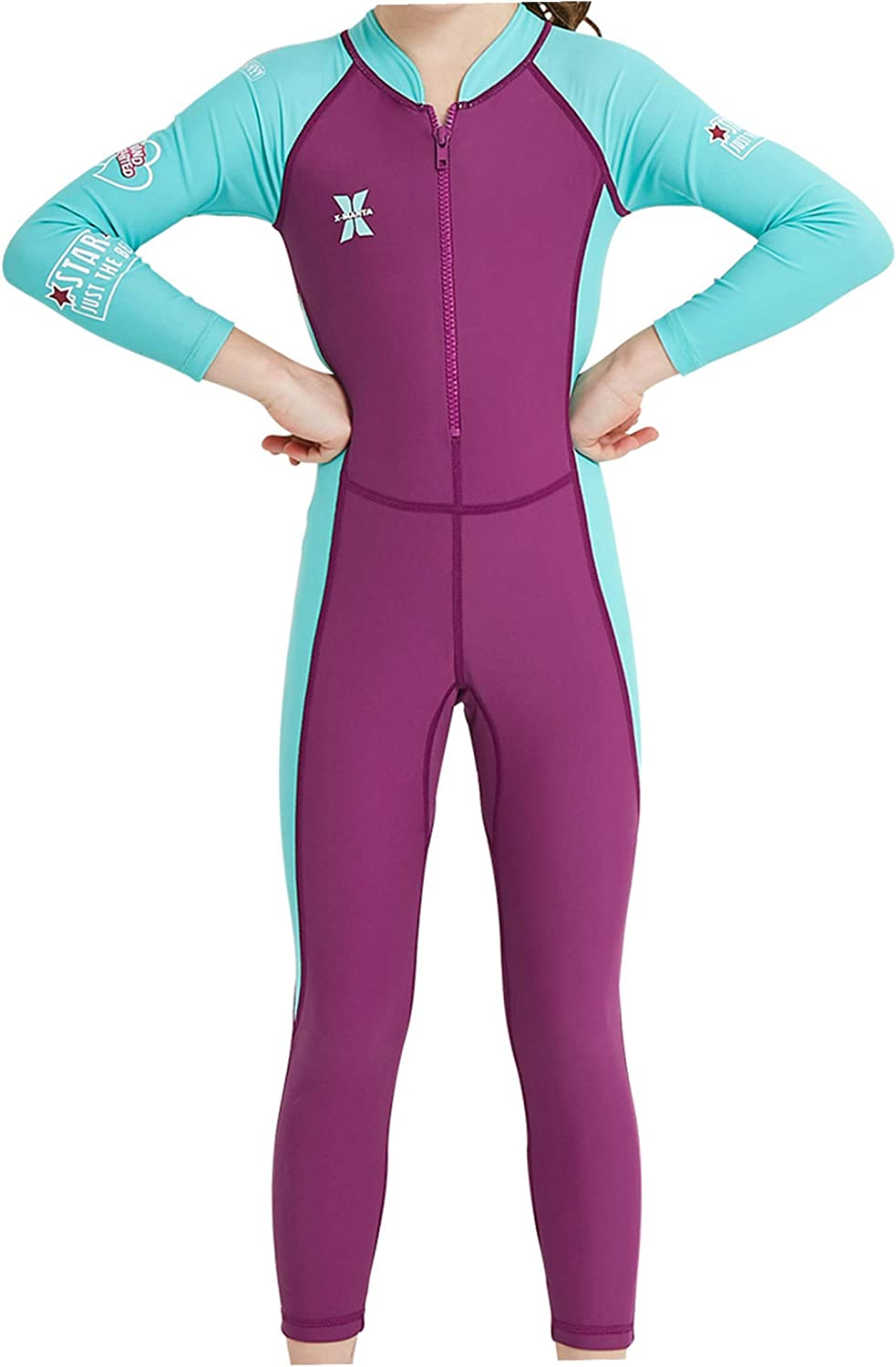 All stores are sold AceAcr Kids Long Sleeve Swimsuit One Swimwe Piece Sun Protection Sale item