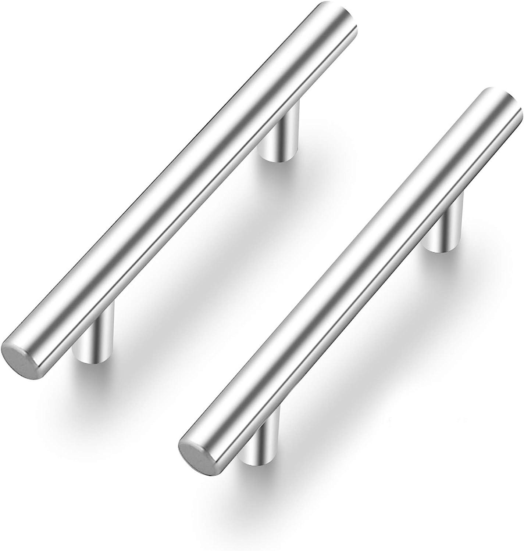 Ravinte 2 Pack 5'' Cabinet Pulls Brushed Nickel Stainless Steel Kitchen Drawer Pulls Cabinet Handles 3