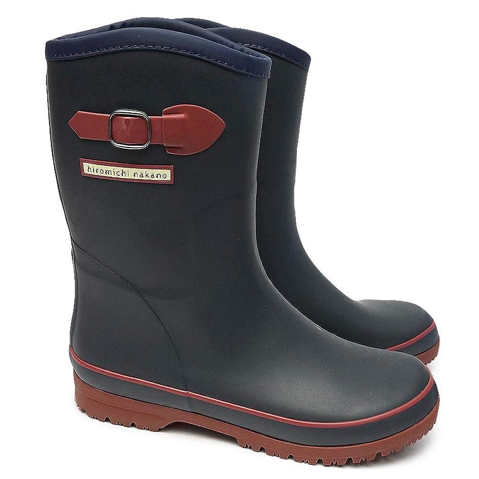 ルーフスリット請求可能[ヒロミチナカノ] hiromichi nakano ヒロミチ ナカノ 長靴 レディース WL163R レインブーツ アンクル丈 ショート 防寒 防水 軽量 防滑 HN WL163R ブラック ブラウン グリーン ブラウン 婦人長靴