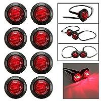 MBB LEDクリアランストラックバスサイドマーカーインジケータライトトレーラーテールテールライトブレーキストップランプ12V (8, 赤)