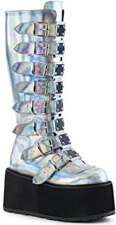 Best demonia holographic boots Reviews