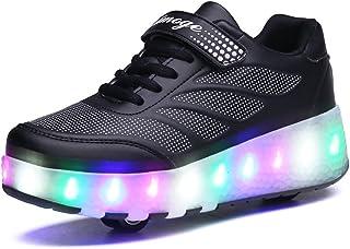 Skybird-UK LED Lumières Clignotant Couleur Changeant Chaussures à roulettes Multisports Outdoor 7 Couleurs LED Colorés Gym...