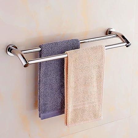 YOTINO Porte-serviettes Auto-adh/ésif en Acier inoxydable pour Salle de Bain Sans Per/çage avec Colle 3M