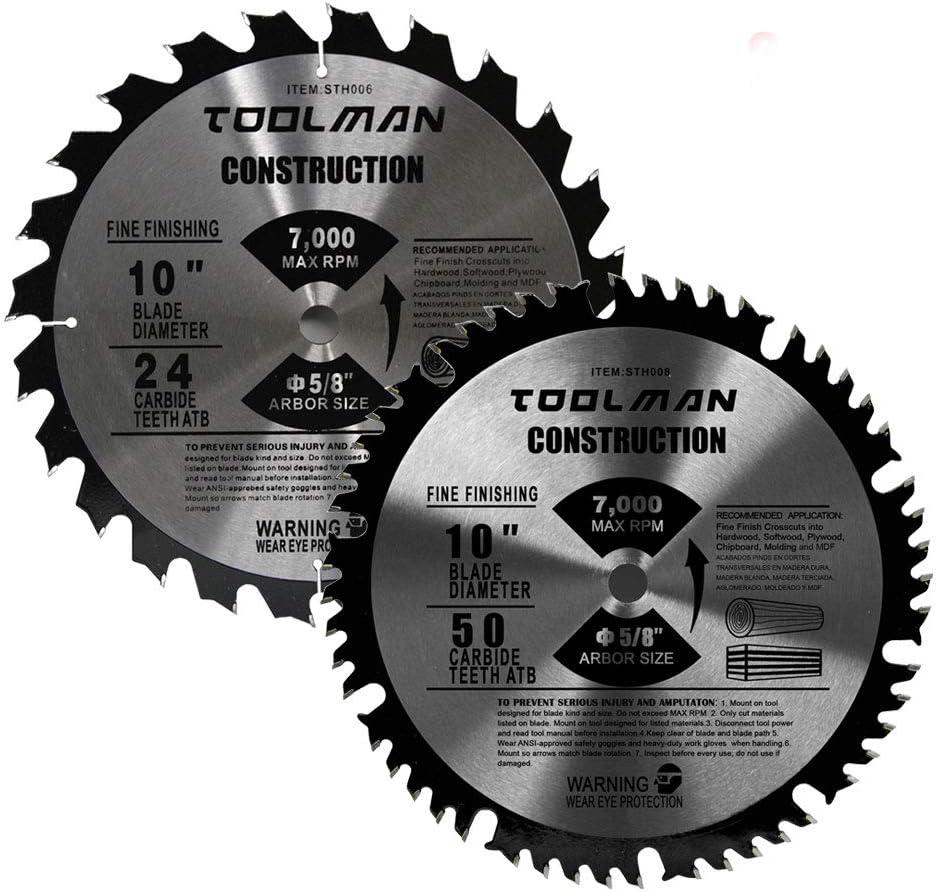 Toolman Premium Carbide Circular Saw Blade 10 5 Fit Universal 値引き 8