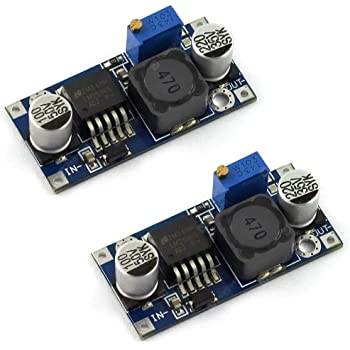 RioRand 5 Pack Boost Converter Module XL6009 DC 3.0-30 V to DC 5-35 V Output Voltage Adjustable Step up Circuit Board 4A
