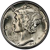 Bright white, full strike, brilliant uncirclated 90% Silver Mercury Dime Hand picked for quality and eye appeal