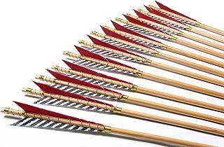 PG1ARCHERY Archery Wooden English Longbow Arrows Practice Targeting Arrow 5.8