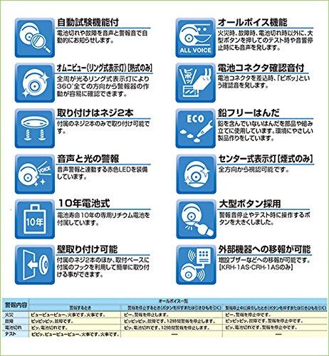 NITTAN(ニッタン)『光電式住宅用火災警報器自動試験機能付(電池式・音声式)けむタンちゃん10(KRH-1B)』