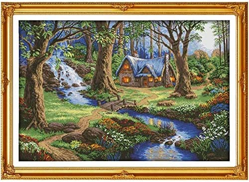 Cross Stitch The Cabin in Pattern Forest Stitc Colorado Springs Mall Factory outlet Counted