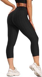 STARBILD Women's High Waist Yoga Capris Workout Running Tummy Control Leggings with Side Pockets
