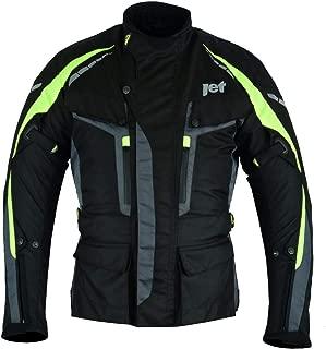 JET Motorcycle Motorbike Jacket 3 Layer Premium All Seasons Textile Waterproof CE Armoured Adventurer (2XL (44