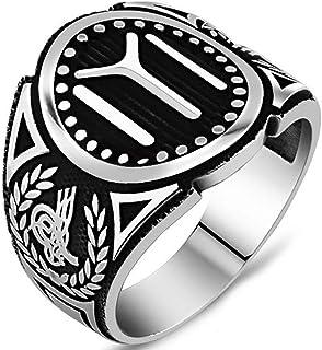 Solid 925 Sterling Silver Turkish IYI Kayi Tribe Men's Ring