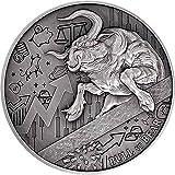 Power Coin Bull Vs Bear Pandemic 2 Oz Moneda Plata 10000 Francos Chad 2021