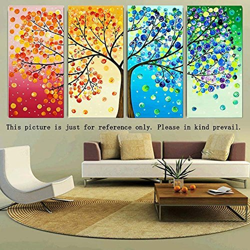 Anself DIY Handmade Needlework Punto Croce Set Ricamo Kit Precise Stampato Big Tree Primavera Estate Autunno Inverno Modello Punto Croce Casa Combinano Decoration