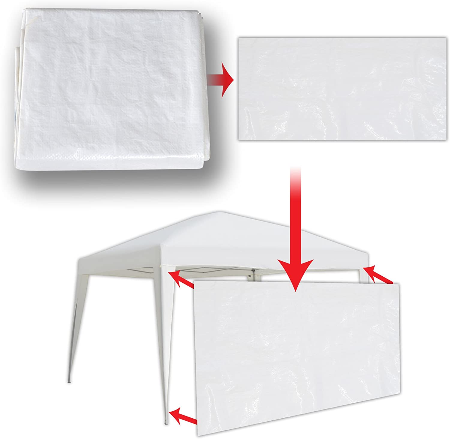 Direct store Strong Camel 13'x6.4' Sidepanels Over item handling ☆ for 10'x13' Canopy Up Pop Te EZ