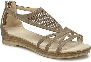DS18087 Bej Kadın Sandalet