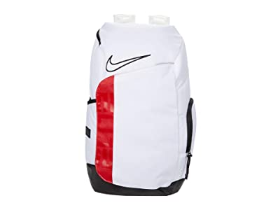 Nike Hoops Elite Pro Backpack (White/University Red/Black) Backpack Bags