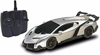 2.4Ghz 1/18 Scale Lamborghini Veneno Car Radio Remote Control Sport Racing Car RC, Silver