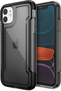 X-Doria Defense Clear, iPhone 11 Case - Military Grade Drop Protection, Shock Protection, Clear Protective Case for Apple iPhone 11, (Black)