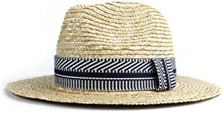 Sun Hat for men and women Ladies Men Sun Hat Straw Two-color Striped Print Fashion Plain Sun Hat Panama Hat Beach