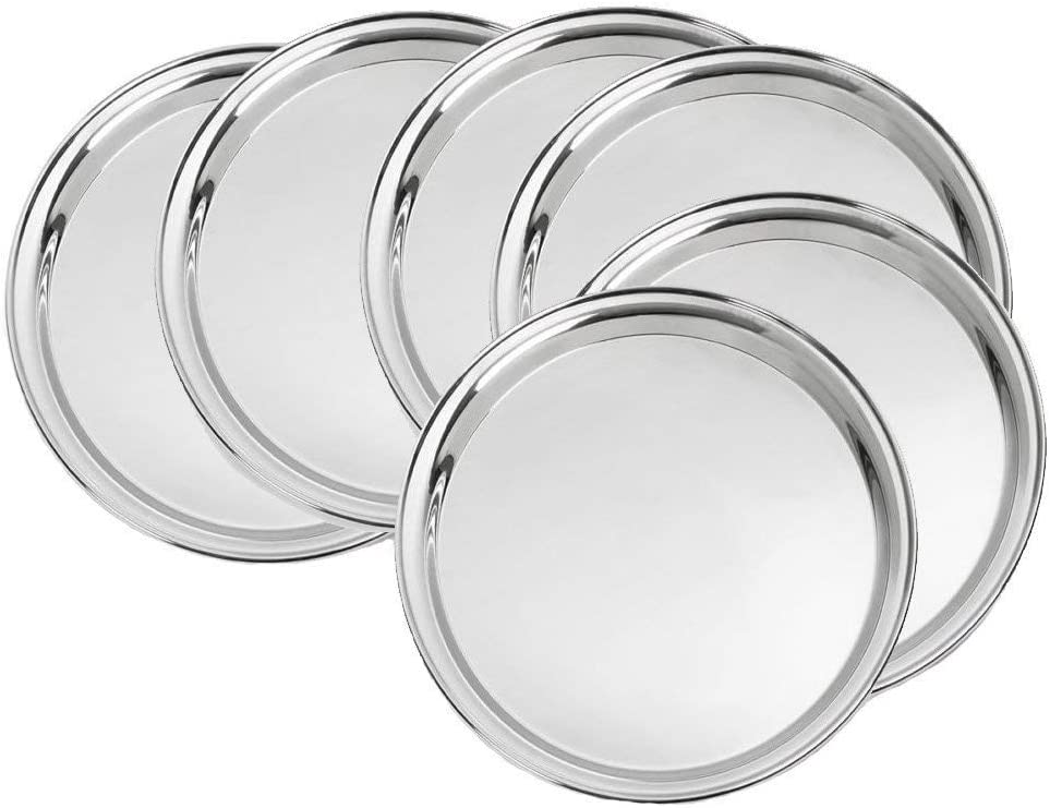 Industry No. 1 store Kitchen Pro Stainless Steel Dinner of Pieces Set 6 Plates
