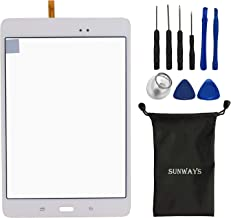 Sunways White Touch Flex Cable Screen Glass Lens Repaire Parts for Samsung Galaxy Tab A 8.0 T350 SM-T350 with Device Opening Tools