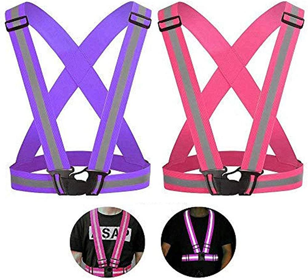 WeTest Pack of 2 Reflective Vest Limited Special Price Very popular Adjustable