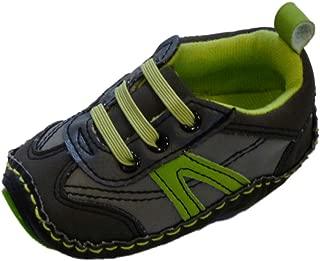 Infant Boys Gray & Green Tennis Shoes Soft Baby Crib Shoes