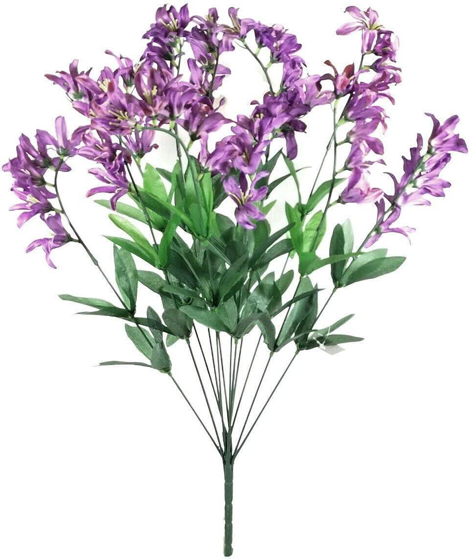Purple Freesia Directly managed store Bush Artificial [Alternative dealer] Flowers Bouquet Yard Organiza 22