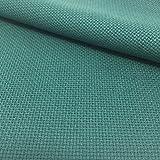 Tela para Punto de Cruz | 75cm x 50cm | 5,5 puntos/cm – 14 cuentas | 100% algodón | Elige color | de Delicatela (Verde)