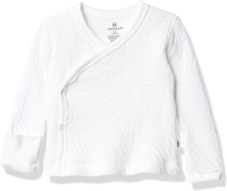 HonestBaby Baby Organic Cotton Matelasse Side-Snap Kimono Top