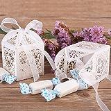 GHB 100PCS Boîte à Dragées Contenant Dragées Ballotin en Papier pour Marriage/Baptême/Anniversaire