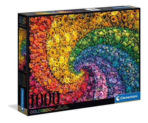 Clementoni Colorboom Collection-Whirl adulti 1000 pezzi, puzzle gradient-Made in Italy, Multicolore, 39594