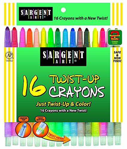 Sargent Art 55-0981 16-Count Twist-Up-Crayons
