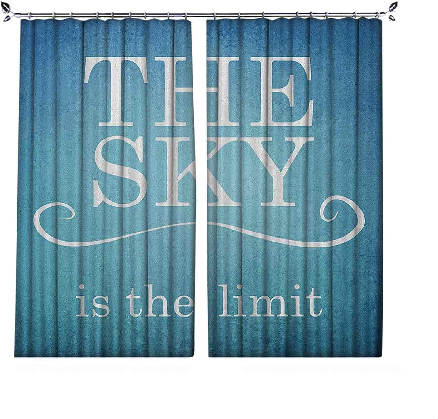 Pinch Pleat Textured Quote Easy-to-use Curtains Limit price is The Typogr Sky