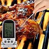 Generic LCD Wireless Barbecue Timer Food Cooking Thermometer Digital Probe Meat Thermometer BBQ