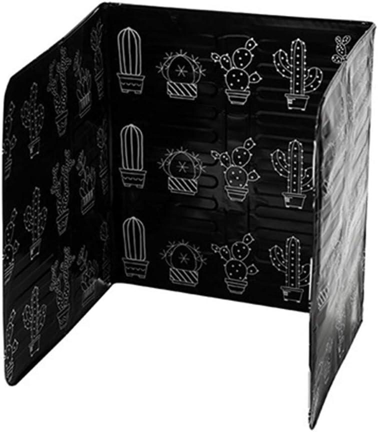 cdhgsh Plaque Anti-/éclaboussures Huile de Cuisson Garde Cuisson Cuisinier s/écurit/é po/êle Couvercle de la cuisini/ère prot/éger d/éflecteur dhuile Noir