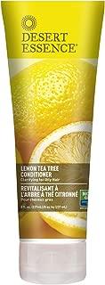 Desert Essence Lemon Tea Tree Conditioner - 8 Fl Ounce - Soft & Silky - Soothes Scalp - Strengthens Hair - Nourishing & Revitalized - Vitamin B5 - Shea