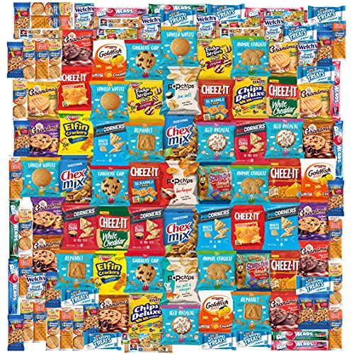 Snack Chest Care Package (120 Count) Variety Snacks Gift Box - College Students, Military, Work or Home - Over 9 Pounds of Chips Cookies & Candy!