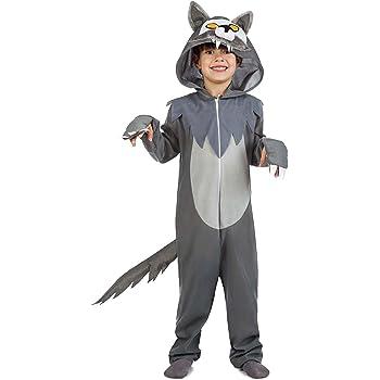 Disfraz de Lobo Infantil (3-4 años): Amazon.es: Juguetes y juegos