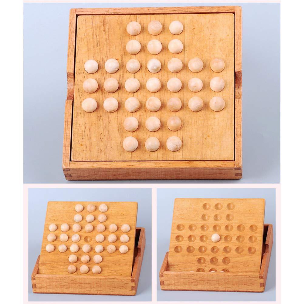 Toyvian Solitario de Madera, Juego de Mesa de ajedrez, ajedrez Individual, clásico, Inteligencia, Juguete: Amazon.es: Juguetes y juegos