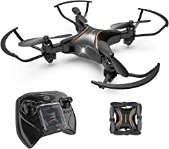 Drocon Foldable Mini RC Drone for Kids, Portable Pocket Quadcopter with Altitude Hold Mode, 3D Flips, Headless Mode and One-Key Take-Off/Landing, Easy to Fly for Beginners and Makes a Great Gift