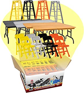 Complete Set of all 4 Ultimate Ladder, Table and Chairs Playsets for WWE Wrestling Action Figures