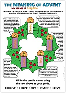 advent coloring posters
